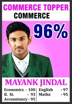 Mayank Jindal SRC Topper (12 + 10 )18-19